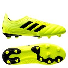 adidas Copa 19.1 FG/AG Hard Wired - Gul/Svart Barn