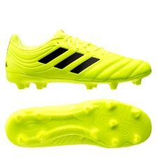 adidas Copa 19.3 FG/AG Hard Wired - Gul/Sort