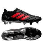 adidas Copa 19.1 FG/AG 302 Redirect - Musta/Punainen/Hopea