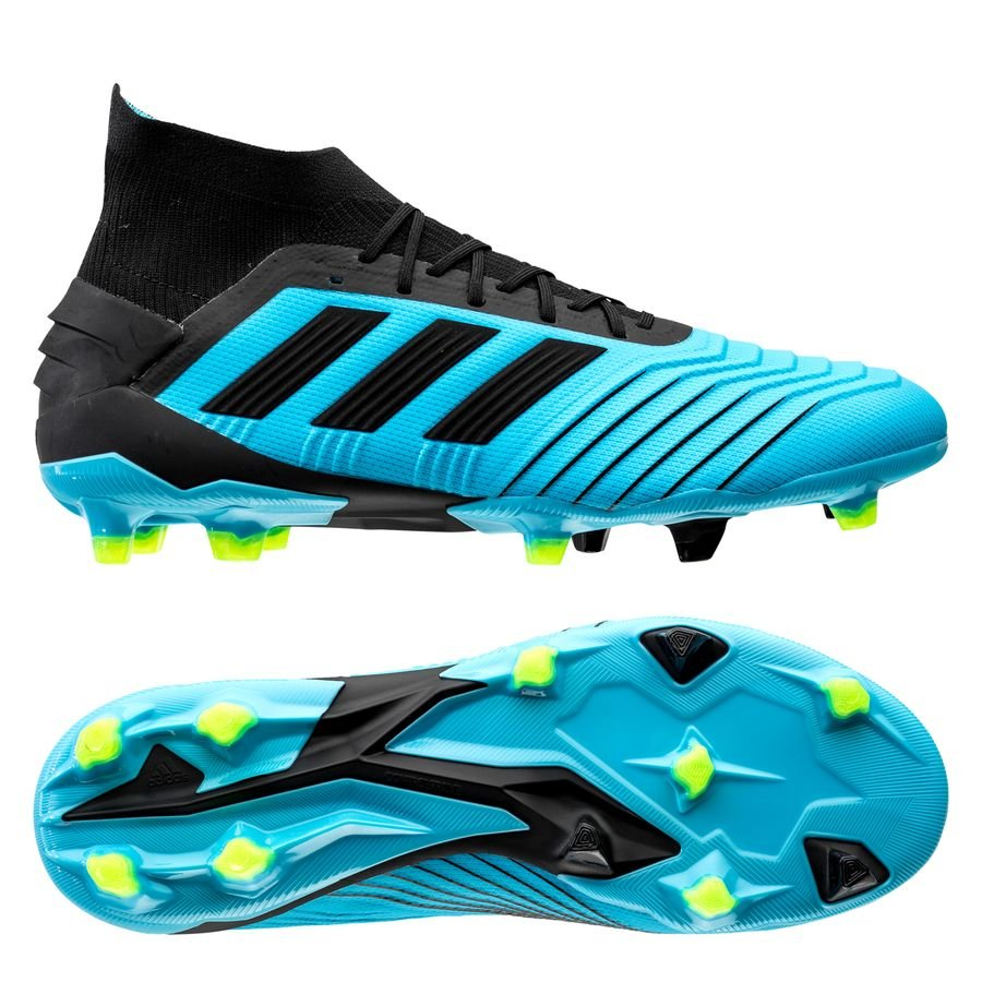 adidas Predator 19.1 FG/AG Hard Wired - Turkis/Sort/Gul