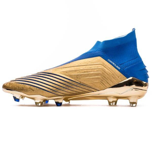 Adidas Predator 19 Fg Ag Input Code Gold Football Blue Weiss