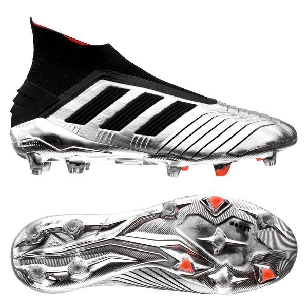 adidas Predator 19+ FG/AG Boost 302 Redirect - Silver Metallic/Core  Black/Red