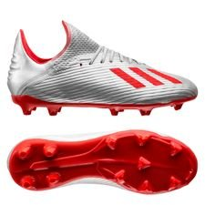 adidas X 19.1 FG/AG 302 Redirect - Zilver/Rood/Wit Kinderen