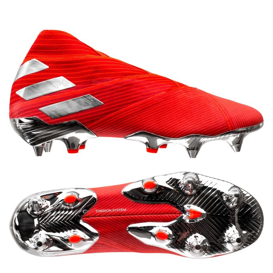 adidas Nemeziz 19+ SG - Rød/Sølv/Rød