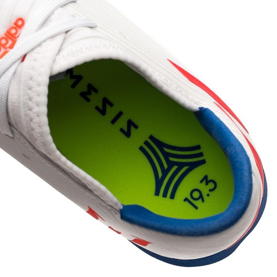 9ac7fb807da adidas Nemeziz Messi Tango 19.3 TF 302 Redirect - Footwear White Solar  Red Football Blue Kids
