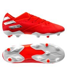 adidas Nemeziz 19.1 FG/AG 302 Redirect - Action Red/Silver Metallic/Solar Red Kids