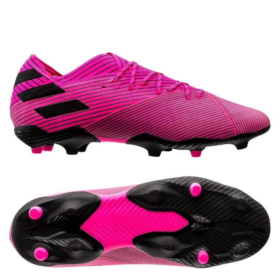 adidas Nemeziz 19.1 FG/AG Hard Wired - Pink/Sort Børn