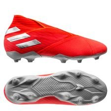 adidas Nemeziz 19+ FG/AG 302 Redirect - Action Red/Silver Metallic/Solar Red Kids