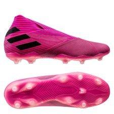 adidas Nemeziz 19+ FG/AG Hard Wired - Pink/Sort Børn