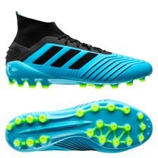 adidas Predator 19.1 AG Hard Wired - Turkis/Sort