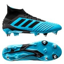 adidas Predator 19.1 SG Hard Wired - Turkis/Sort