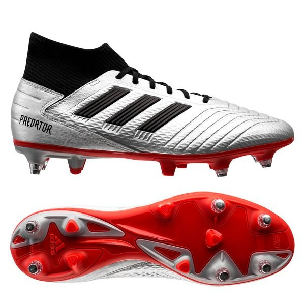 new styles cheap sale look good shoes sale adidas Predator 19.3 SG 302 Redirect - Silver Metallic/Core Black/High Risk  Red