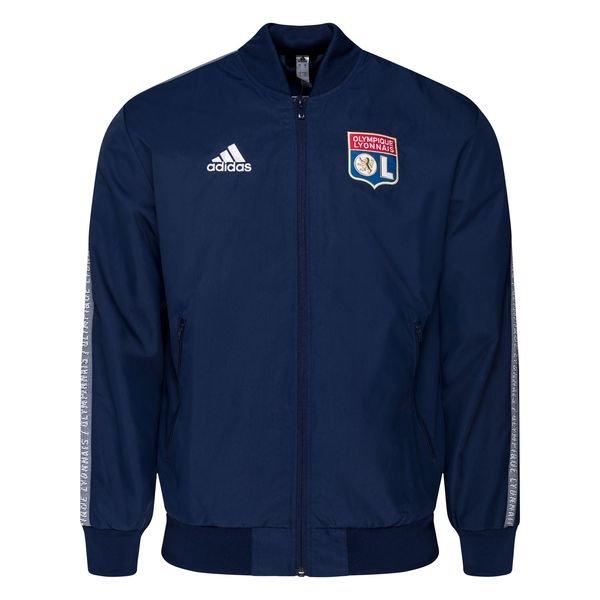 adidas Olympique Lyon 201920 Anthem Jacke DunkelblauWeiß