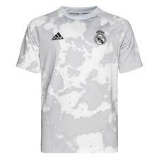 Real Madrid Tränings T-Shirt Pre Match Hemma Parley - Grå/Vit Barn