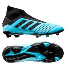 adidas Predator 19+ FG/AG Hard Wired - Turkos/Svart Barn