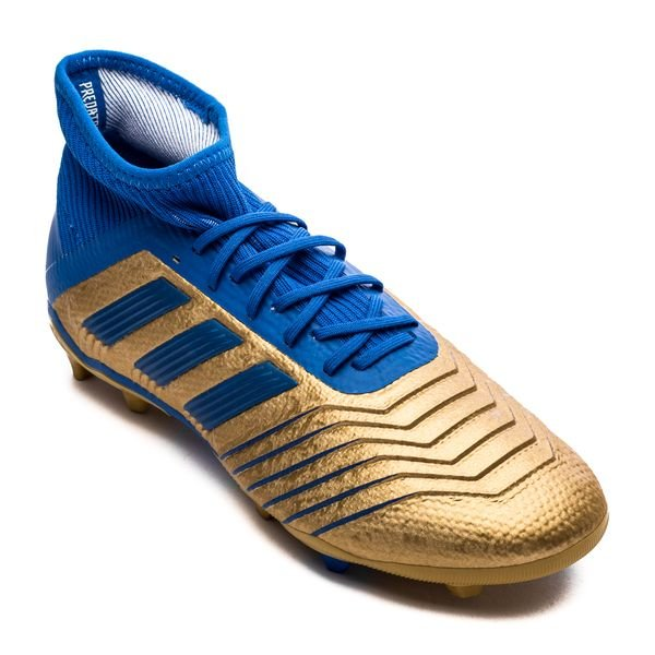 Adidas Predator 19 1 Fg Ag Input Code Gold Football Blue Weiss Kinder