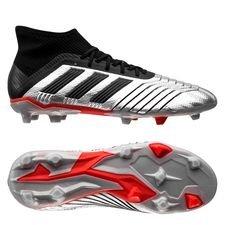 best sneakers 0603c 70406 adidas Predator 19.1 FG AG 302 Redirect - Argenté Noir Rouge Enfant