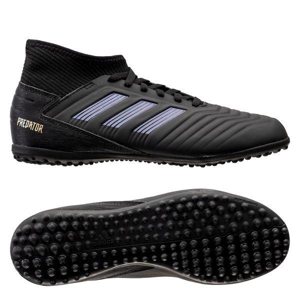 adidas Predator Tango 19.3 TF Dark Script - Core Black/Gold Metallic Kids