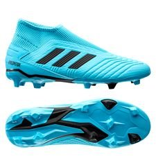 adidas Predator 19.3 FG/AG Laceless Hard Wired - Turkos/Svart