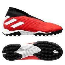 adidas Nemeziz Tango 19.3 TF Laceless 302 Redirect - Rood/Wit