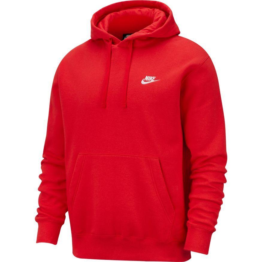 Nike Hættetrøje NSW Club - Rød/Hvid thumbnail