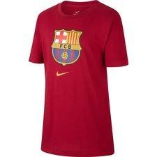 Barcelona T-Shirt Crest - Bordeaux/Guld Barn