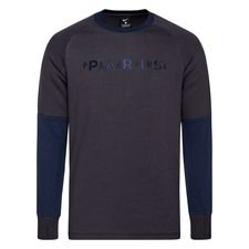 Paris Saint-Germain Fleece Crewneck - Grå/Navy