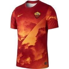 Roma Tränings T-Shirt Pre Match - Röd/Guld