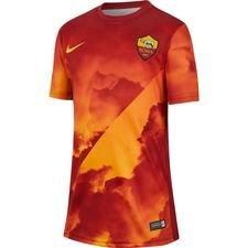 Roma Tränings T-Shirt Pre Match - Guld/Röd Barn