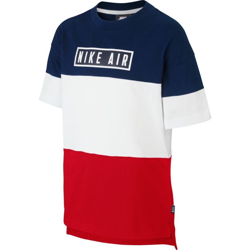 where can i buy nice shoes new authentic Nike T-Shirt Air - Blue Void/University Red/White Kids | www ...