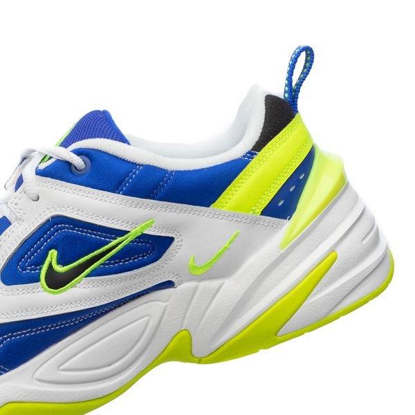 Nike M2K Tekno BlancNoirJaune FluoBleu