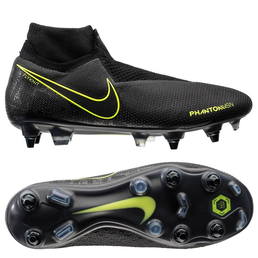 Nike Phantom Vision Elite DF SG-PRO Anti-Clog - Sort/Neon