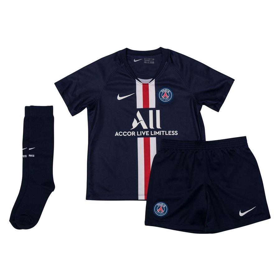 Paris Saint-Germain Hjemmebanetrøje 2019/20 Mini-Kit Børn