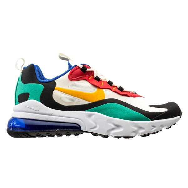 choisir officiel Vente de liquidation 2019 capture Nike Air Max 270 React - Blanc/Noir/Jaune Doré/Rouge Enfant