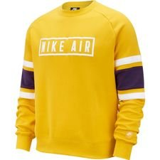 Nike NSW Air Sweatshirt Crew - Gelb/Weiß