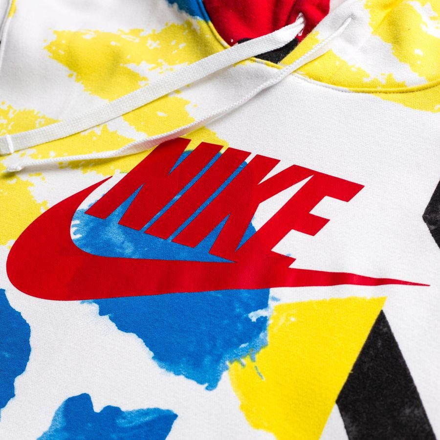 Nike Sweat à Capuche NSW Fleece SSNL 4 BlancRougeBleuNoirJaune