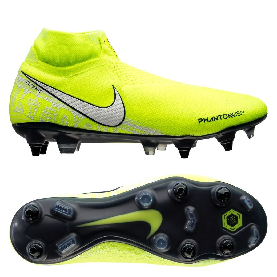 Nike Phantom Vision Elite DF SG-PRO Anti-Clog New Lights - Neon/Hvid