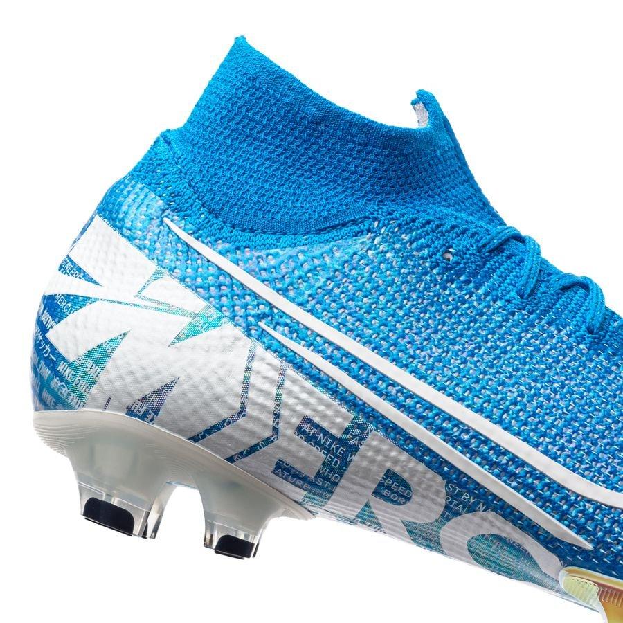 Nike Mercurial Superfly 7 Elite FG New Lights Bleu FoncéBlanc