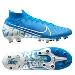 Nike Mercurial Superfly 7 Elite AG-PRO New Lights - Bleu Foncé/Blanc