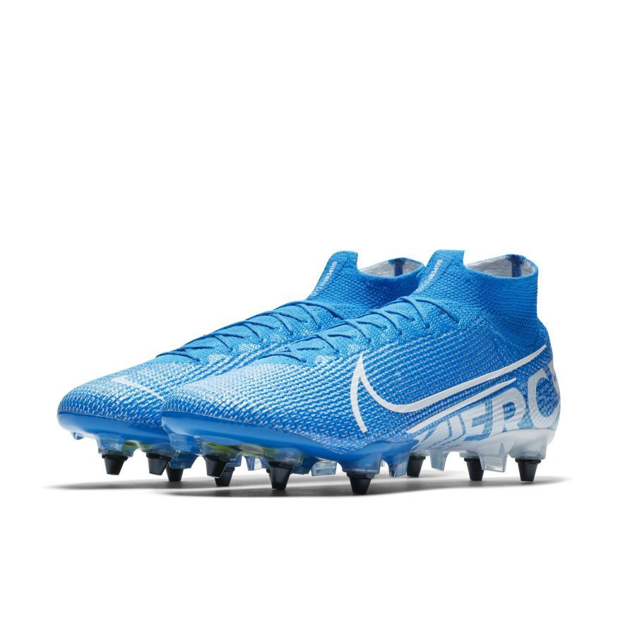 Nike Mercurial Superfly 7 Elite SG-PRO - Blå/Hvid