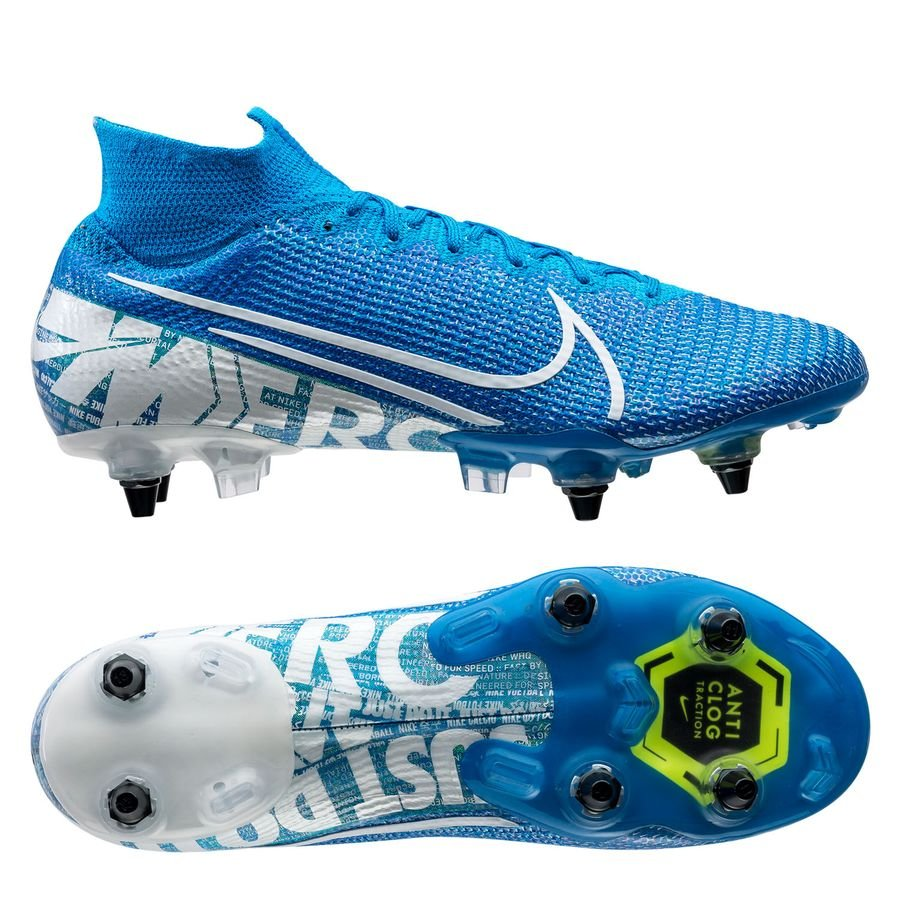 Nike Mercurial Superfly 7 Elite SG-PRO Anti-Clog New Lights - Blå/Hvid