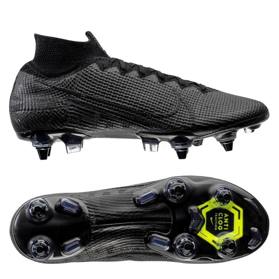 Nike Mercurial Superfly 7 Elite SG-PRO Anti-Clog Under The Radar - Sort/Grå