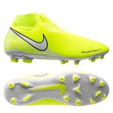 Nike Phantom Vision Academy DF MG - Neon/Hvid