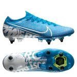 Nike Mercurial Vapor 13 Elite SG-PRO Anti-Clog New Lights - Bleu Foncé/Blanc