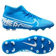 Nike Mercurial Superfly 7 Club MG New Lights - Blå/Vit/Navy Barn
