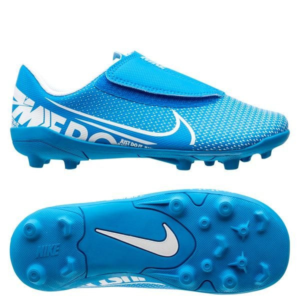 Nike Mercurial Vapor 13 Club Velcro MG New Lights Bleu FoncéBlancBleu Foncé Enfant