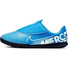 Nike Mercurial Vapor 13 Club Velcro IC New Lights - Blå/Vit/Navy Barn