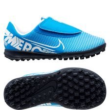 Nike Mercurial Vapor 13 Club Velcro TF New Lights - Blå/Hvid/Navy Børn