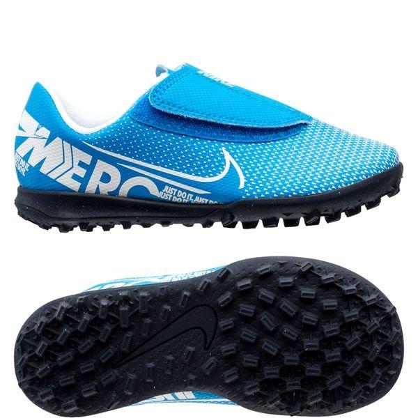Nike Mercurial Vapor 13 Club Velcro TF New Lights BlauwWitNavy Kinderen