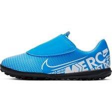 Nike Mercurial Vapor 13 Club Velcro TF New Lights - Blå/Vit/Navy Barn
